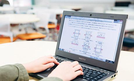 photo:授業支援システムで予習復習!