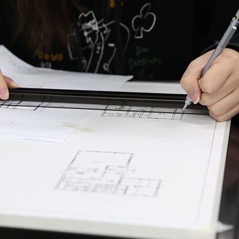 #019 建築製図のテストを受ける