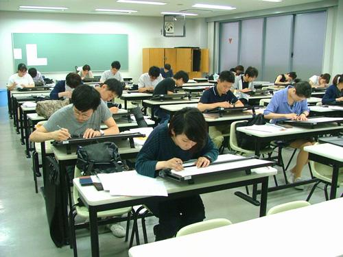 photo: 建築学科Ⅱ部 設計製図試験を行いました