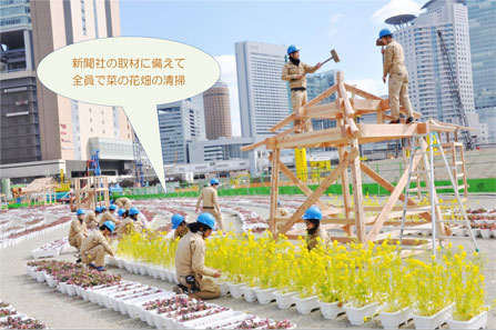photo: 『うめきた・菜の花ミツバチプロジェクト』にて卒業制作作品を展示!!