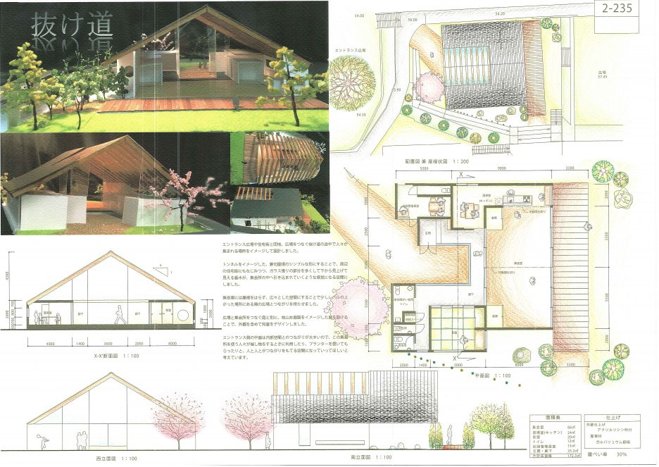 photo: 大阪府公共建築設計コンクールで3名のOCTの学生が入選しました!