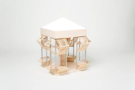 photo: The Happiness Box(建築と家具との中間を考えた店計画)