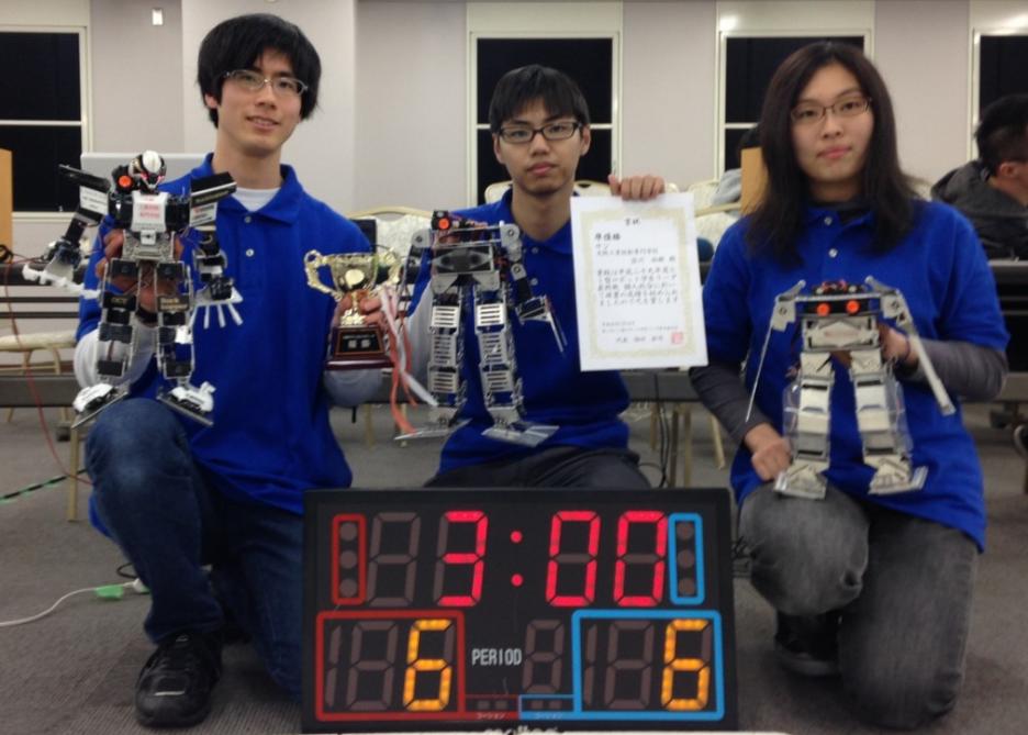 photo: 近畿学生二足ロボットリーグ in 大阪産業大ステージ 準優勝!