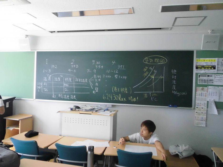 photo: 1年生 設備環境実験実習 授業紹介