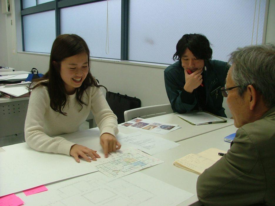 photo: 建築学科2年生 施工専攻管理コース 卒業制作 中間総見