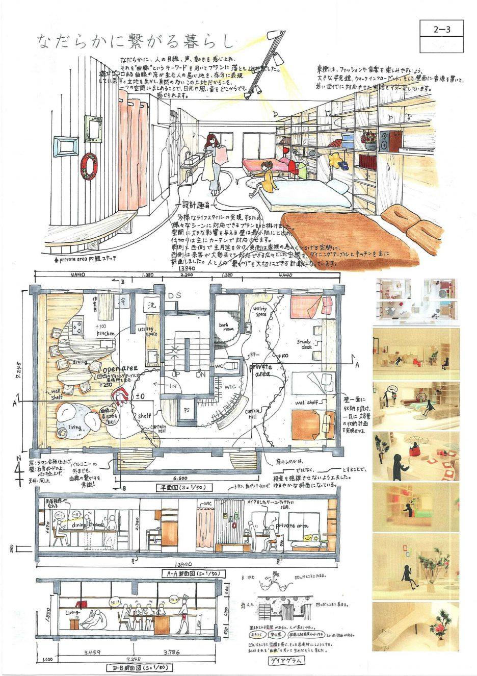photo: 第28回「あすなろ夢建築」大阪府公共建築設計コンクールでOCTの学生3名が入選しました。