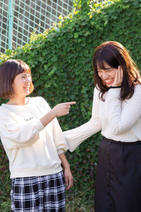 photo: 池田真乃香(左)