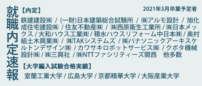 内定者・大学編入合格者速報(2021年3月卒業予定者)