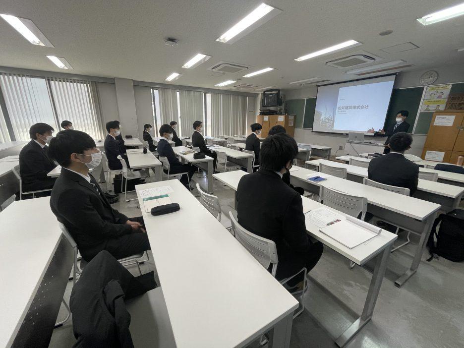 photo: 学内会社説明会・インターンシップ先の発表がありました