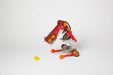 photo: あひる救出ロボット